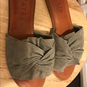 1.State Shoes | grey suede/ Brown Slip Ons, Size 8